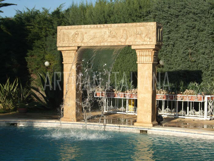 cascata per piscina a tema storico - Artman Italiana